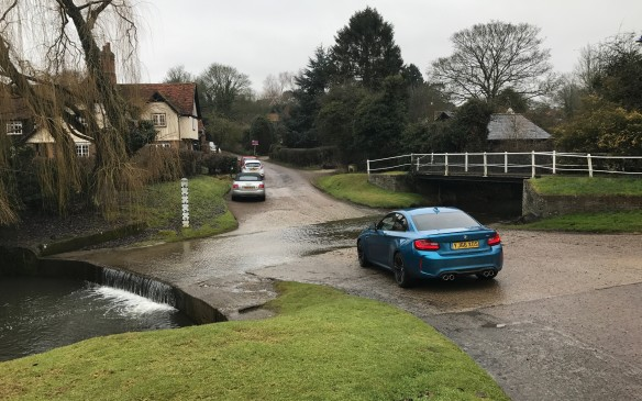 <p>This road, at Braughing, is always flooded. It's a ford, where there's no bridge but the road passes literally through the river.</p>