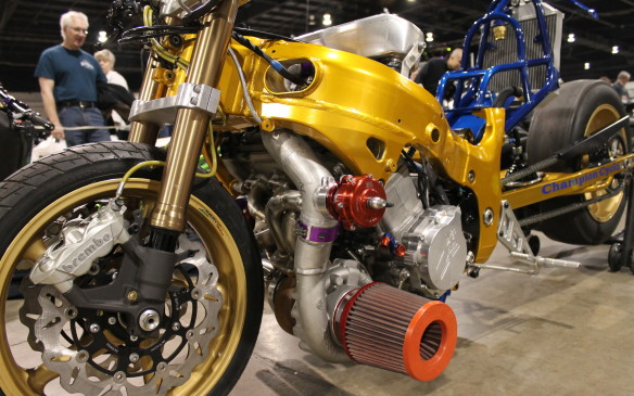 "<p>""This is an end-all bike. There's no shortage of jealous people in the world, and there's a lot more rivalry than there used to be. So as soon as you get somebody who likes to talk too much, this is the bike we bring out just to say okay, you lost. Now disappear like the rest of them.""</p>"