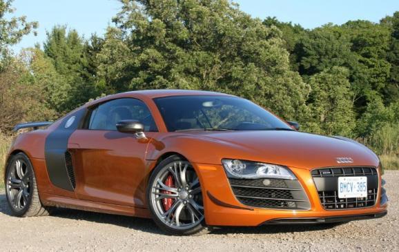2012 Audi R8 GT - front 3/4 view