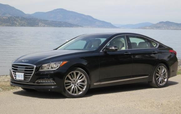 <p>Best New Luxury Car >$50K - 2015 Hyundai Genesis </p> <p>The 2015 Hyundai Genesis beat out the Acura RLX Sport Hybrid and Cadillac ATS Coupe to be named the Best New Luxury Car >$50K</p>
