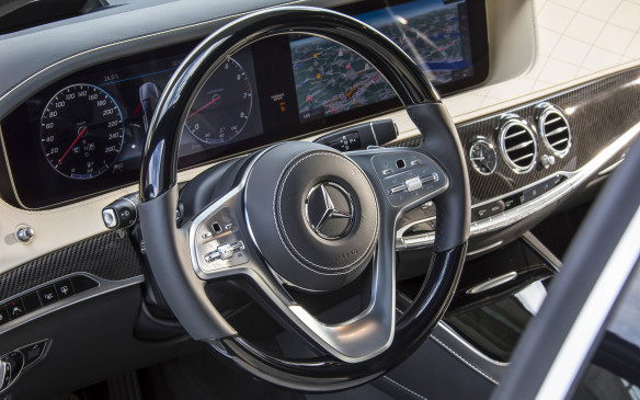 <p>The fundamental design of the cabin is unchanged from last year, though the cruise control stalk is now eliminated and replaced with controls on the three-spoke steering wheel. Apparently, it was North American drivers who most disliked the cruise stalk, which couldn't be seen behind the left spoke of the wheel.</p>