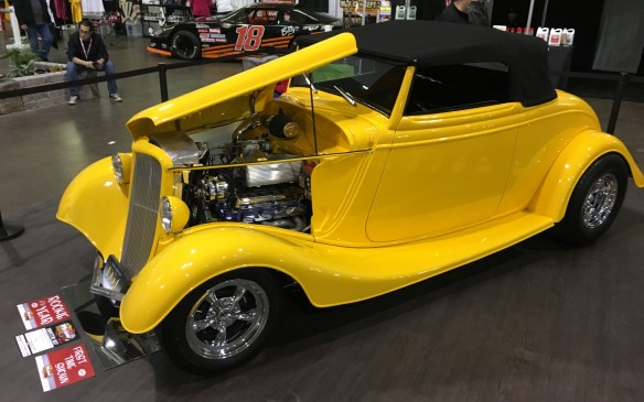 "<p>The screaming yellow ""Rubber Ducky"" street rod is based on a 1934 Ford Cabriolet. It's powered by a stroked 347-cubic-inch Ford V-8 fed by a GT40 fuel injection intake system that produces 430 horsepower – with a 50-horsepower boost from a nitrous oxide system available when needed.</p>"