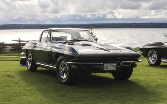 <p>A muscle car in its own right this 1965 Sting Ray Coupe competed in one of two classes for Corvettes alone. The '65 models were the first available with disc brakes and big-block engines, like the  396 in this one.</p>