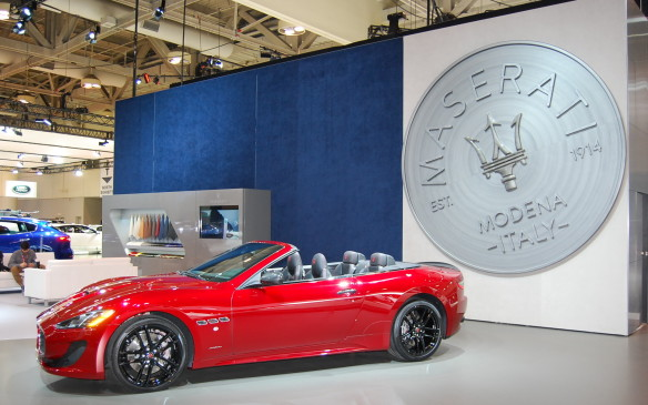 <p>Maserati decided to move upstairs out of Auto Exotica this year, into the main exhibition area with the mainstream manufacturers in the south building.  It's a small space, but it's well worth checking out their collection.</p>