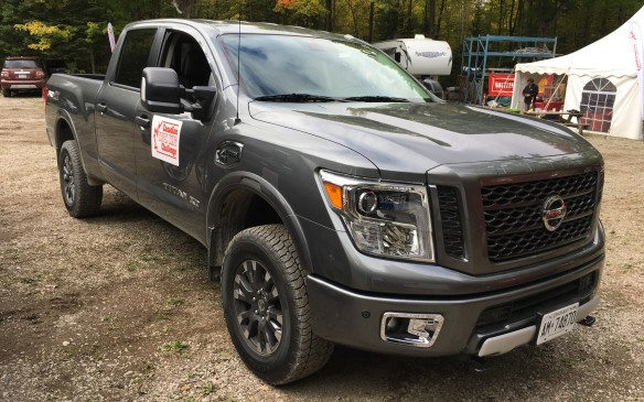 "<p>Nissan is marketing its Titan XD as a ""heavy-duty"" ½-ton, but in this event it was compared with the <em>real</em> big boys – and it responded to the challenge quite well. The model entered was a 2017 Titan XD PRO-4x Crew Cab powered by a 5.0-litre Cummins V-8 Turbo Diesel with a six-speed automatic transmission ($64,950, not including taxes, PDI, freight or other prep costs.) While outgunned by the true ¾-ton entries, it towed well, although there was some bounce when pulling the trailer over imperfections on the road surfaces. The brakes were firm and the throttle tip-in was excellent. The Titan XD finished tied with the Silverado 2500 for second place in the ¾-ton category, both earning scores of 74.9%.       </p>"