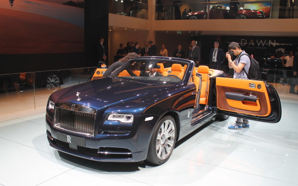 <p>The Dawn is a smaller four-seater convertible than the Phantom-based Drophead Coupe. That doesn't mean it's small: its 6.6L twin-turbo V-12 engine makes 563 horsepower and 590 lb-ft of torque. Don't open the door at speed…</p>