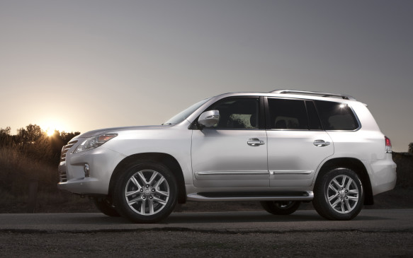 <p>The Japanese-built Lexus uses the same 383-hp, 5.7-L DOHC V-8 that powers the Tundra and Sequoia, which makes for a very capable ute that can tow 3855 kg handily, as well as move its own 2800-kg carcass with authority. With all that mass to motivate, however, Toyota's truck engine is one thirsty customer. For that reason, it's no friend of the greenies.</p>