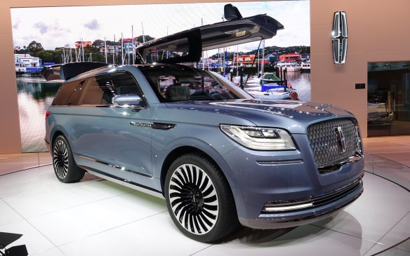 <p>The imposing Lincoln Navigator Concept was first shown earlier this year at the New York Auto Show. There's definitely a touch of Bentley Bentayga in the front fascia of this nonetheless resolutely American luxury SUV.</p>