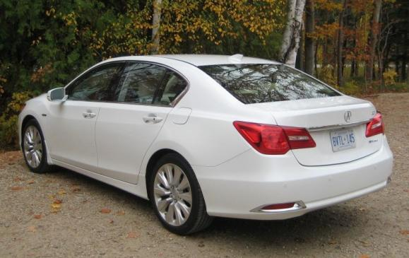 2015 Acura RLX - rear 3/4 view