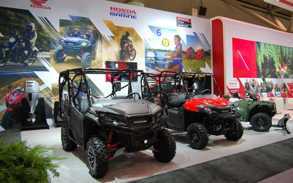 <p>Yes. As stated in the last photo caption, there are 4 Wheelers at the show. In fact, there is even an outboard motor. I guess they thought exhibiting a whole boat would cross the line.</p>