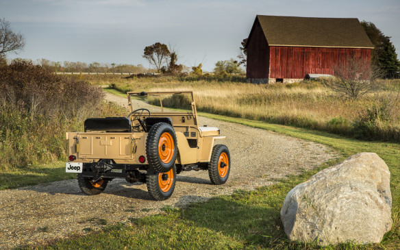 "<p>The Jeep's reputation was established by its ubiquitous wartime exploits. When the war was over, Willys maintained some of its production capacity by producing a civilian version of the Jeep named the CJ-2A, which it called ""a powerhouse on wheels.""</p>"