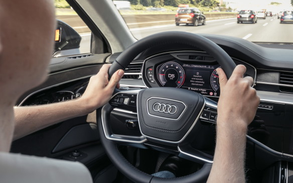 <p>When traffic starts flowing more freely and it's safe to drive at more than 60 km/h, the car will tell the driver to take back control: Hands back on the wheel and eyes back on the road.</p>