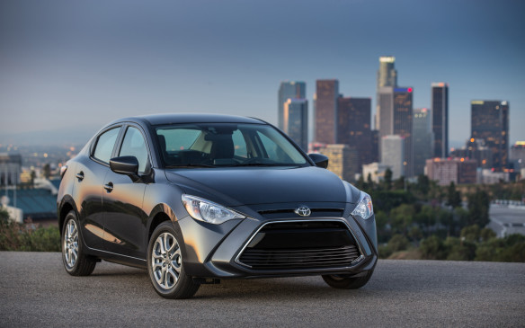 <p>The Yaris Sedan has a new vibe for 2016, with a more stylish design and an amped-up level of dynamic performance. Based on and built alongside the Mazda2 in Mexico, it is the first product of a joint venture between the two Japanese automakers. It even shares Mazda's SkyActiv powertrain.</p>