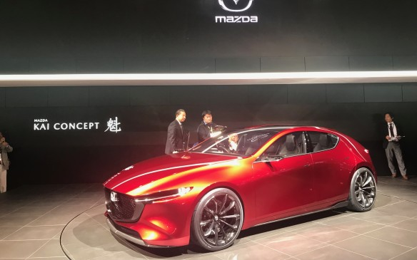 <p>The Mazda Kai Concept, however, is a lot closer to production. The new Mazda3 hatch will look a lot like this in just a year or so.</p>