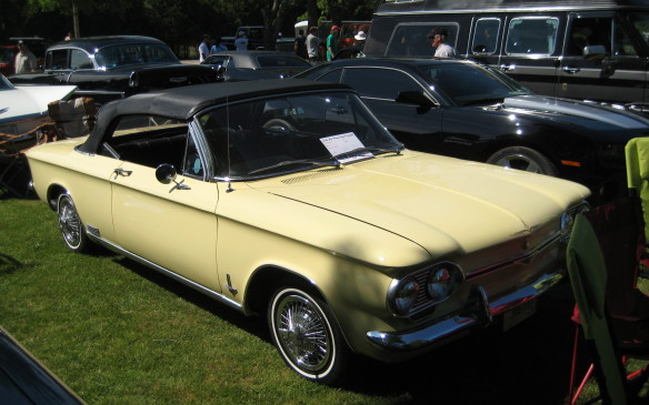 <p>Corvairs, like this first-generation Monza convertible, make fun collector cars and they'te still affordable – if you can find them.</p>