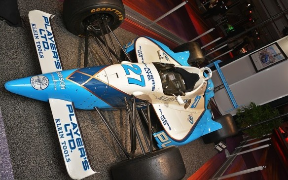 <p>This is not the Reynard-Ford Cosworth that Jacques Villeneuve drove to victory in the 1995 Indy 500, but it is a close replica. Although others have come close several times, Villeneuve is the only Canadian driver to have won the big race.</p>