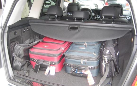 2013 Mercedes-Benz GLK 350 - cargo area with rear seatbacks up