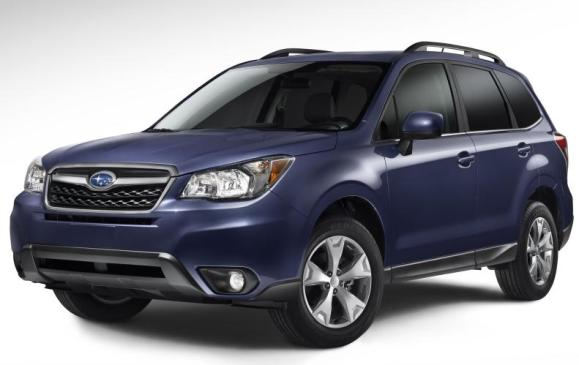 2014 Subaru Forester - front 3/4 view low studio