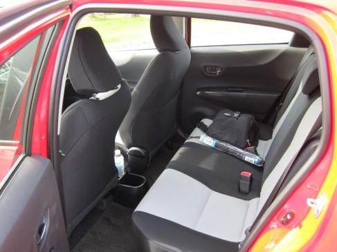 2012 Toyota Yaris hatchback, interior