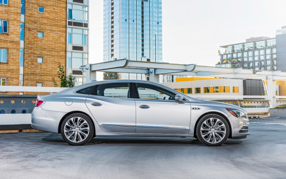 "<p>The new LaCrosse will be available in Canada this September. Pricing for the base model starts at $35,345 and it comes with ""leatherette"" seats.</p>"