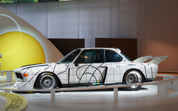 "<p>The second Art Car in the series was a 1976  BMW 3.0 CSL that was turned into a graph-paper backround by American artist Frank Stella. ""The graph paper is what it is, a graph, but when it's morphed over the car's forms it becomes interesting, and adapting the drawing to the racing car's forms is interesting,"" he said. ""Theoretically it's like painting on a shaped canvas.""</p>"