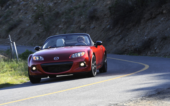 <p>The popular Mazda MX-5 Miata was the top-ranked compact sporty car, ahead of the Volkswagen Eos and Scion tC.</p>