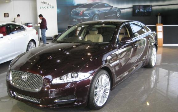 2012 Jaguar XJ Coventry production line - showroom