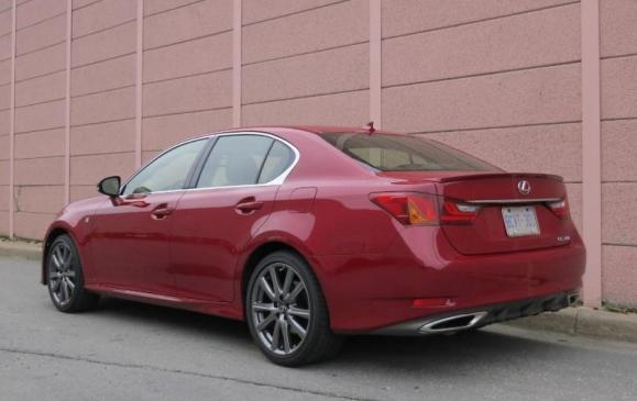 2013 Lexus GS350 F-Sport - rear 3/4 view