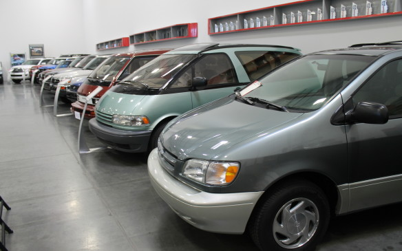 <p>Many of the vehicles in the collection are far less exotic, like these Previa and Sienna minivans, though they all illustrate how Toyota grew to be one of the world's most successful auto makers.</p>