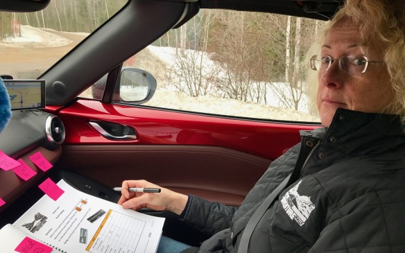 <p>I drove on this second morning. The roads were terrific and took us out toward Bancroft. Emily kept track of the questions and clues, and the two of us scanned constantly.</p>