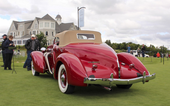 <p>Just as stunning, but from an earlier era, was this 1935 Auburn 851 S/C Boattail Speedster. Fewer than 100 of the supercharged Gordon Buehrig-designed '35-'36 models are known to survive today.</p>
