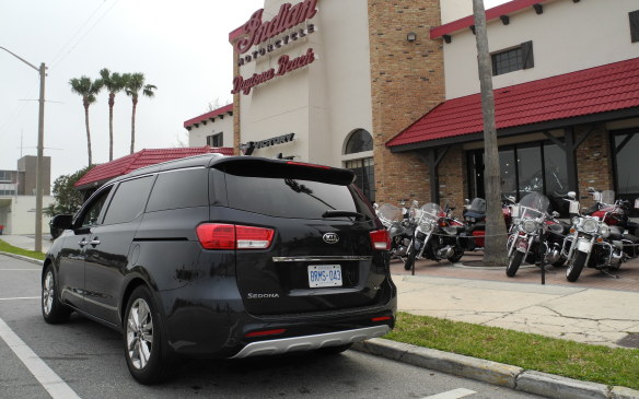 <p>Daytona has a rich history when it comes to motorcycle racing; no surprise there's a wealth of motorcycle dealers in the area, including this Indian Motorcycle shop in downtown Daytona Beach.</p>