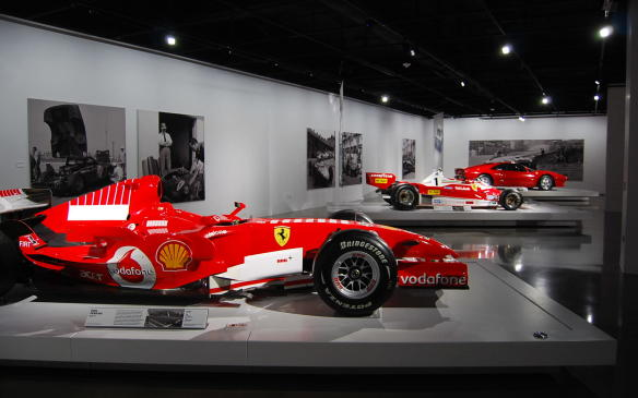 "<p>The ""Seeing Red: 70 Years of Ferrari"" exhibit will run through April 2018 at the <a href=""https://autofile.ca/en-ca/car-photos/the-incredible-cars-of-the-petersen-automotive-museum"">Petersen Automotive Museum</a>. Other special exhibits include ""<a href=""https://autofile.ca/en-ca/car-photos/classic-bugattis-honoured-at-petersen-museum"">The Art of Bugatti</a>,"" which will remain open until January 13, 2018.</p>"
