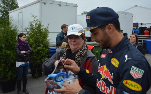 <p>Red Bull's Daniel Riccardio is more likely to reward fans with a smile as well as an autograph.</p>