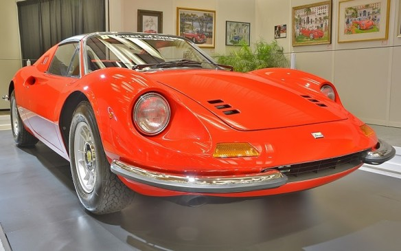 <p>Technically, the Dino is not a Ferrari. But it was designed by the folks at Ferrari. It was produced by Ferrari. It's even named after Enzo Ferrari's son, Dino. Pictured here is a Dino 246 GT. Created by Ferrari beginning in 1968, the Dino brand was an attempt to sell more affordable sports cars that could take on the likes of Porsche. Unlike the V-12-only Ferrari's of the time, the 246 was powered by a 2.4L V-6 engine. By the mid-1970s the brand was retired as Ferrari returned to badging all its cars with the prancing horse emblem.</p>