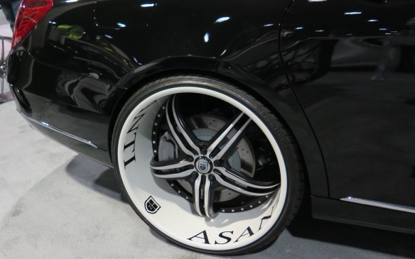 <p>In California where the roads are smooth and free of frost heaves and other nasty surface acne, big wheels and ultra-low-profile tires are a mainstay, such as these Asanti wheels on a Maybach, wrapped in 275/25/24 tires. </p>