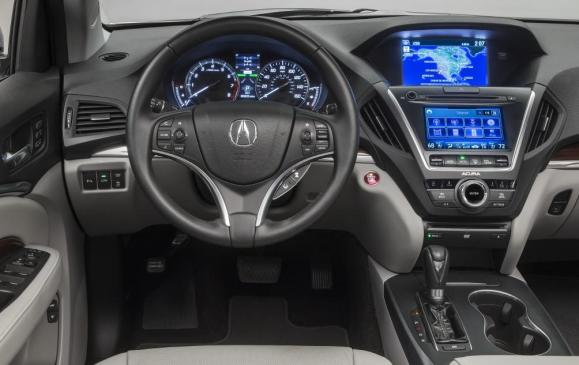 2014 Acura MDX - steering wheel and instrument panel
