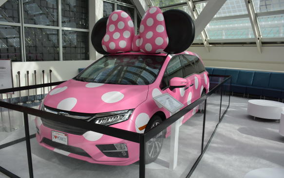 <p>The Minnie Van is definitely geared to kids, as it's a Honda Odyssey dressed up as Minnie Mouse. Honda and Disney collaborated on this project, which is a one-of-a-kind custom creation. Automakers are always trying to make minivans cool, and a pink polka dot hauler with a bow may do the trick. The Minni Van was first shown at the 2017 D23 Expo and unfortunately, or fortunately as the case may be, it is not for sale.</p>