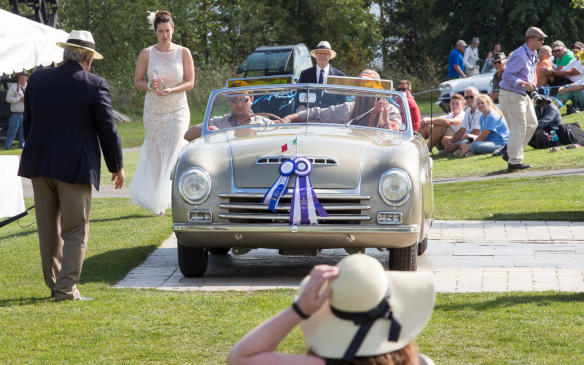 <p>The Best in Show award and, perhaps more surprisingly, the People's Choice Award, went to the 1946 Alfa Romeo 6C 2500 Pininfarina Cabriolet Speciale.</p>