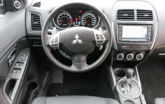 2013 Mitsubishi RVR - steering wheel and instrument panel