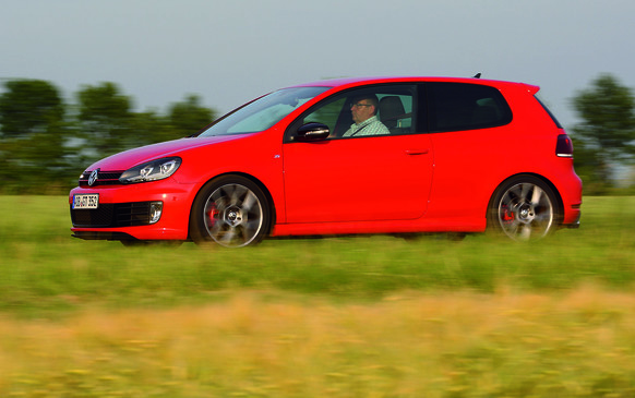 "<p>The sixth-generation Volkswagen GTI paid homage to the very first GTI with its golfball-sized shifter, plaid seats and distinctive red stripe highlighting the grille. And despite 35 years of weight gain, VW's front-drive ""hot hatch"" recaptured the friskiness of the original thanks to its turbocharged and intercooled 2.0-litre DOHC four-cylinder engine, good for 200 horsepower and 207 lb-ft of torque. It featured Audi's stratified direct fuel injection system, which squirted gasoline precisely into each cylinder for better combustion, economy and a cooler running engine that, in turn, permitted higher compression.</p>"