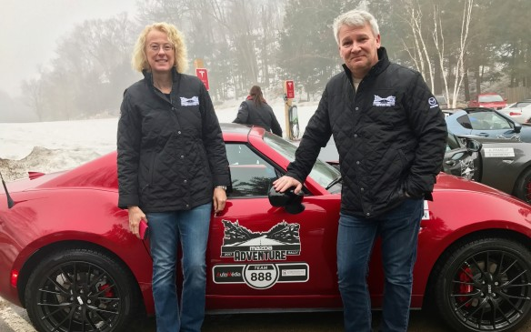 <p>The next morning started a long day of driving. We were close to the leaders in points, but others were also close to us, nipping at our tailpipe. It was cold so we kept the top up. The rally was anyone's to win or lose.</p>