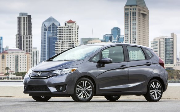 <p><strong>2015 Honda Fit DX</strong></p> <p>MSRP: $14,575</p> <p>It's hard to fault the combination of a tall, traffic-friendly seating position, good levels of standard equipment and small footprint. And the highly customizable second-row Magic Seat offers easily customizable interior storage. Basic power amenities, Bluetooth hands-free interface and a rear-view camera are welcome additions, although A/C is not included. A new 1.5-litre engine has direct injection for better fuel consumption and more power than before, now hitting 130 horsepower. Its six-speed manual transition is Honda-easy, and an optional CVT is available, although with a much-higher buy-in of $18,675.</p>