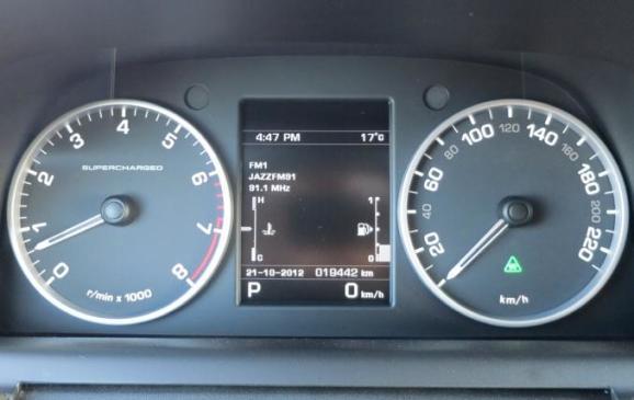 2012 Range Rover Sport  instrument cluster