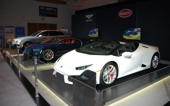 """<p>Remember that question """"What's your dream car?"""". This is where you go to find out. From a two-tone Rolls-Royce, to a collection of collectible Corvettes, to Lamborghinis, to a Fisker Karma, there are gems to be found in the AutoExotica exhibit. Don't forget the Aston Martins strewn around the show floor, including the gorgeous DB11.</p>"""