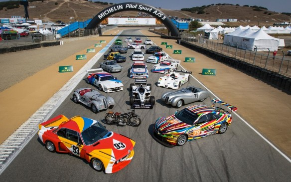 <p>BMW was front and centre at the Motorsport Reunion as well where it was the honoured marque in tribute to the centennial of the brand's founding. Can you identify all the BMW race cars displayed here?</p>