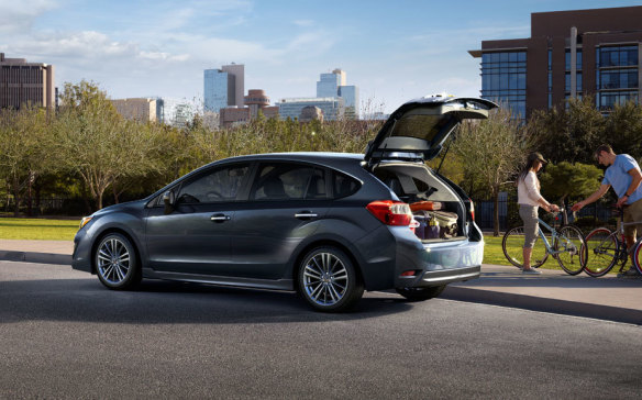 <p><strong>Safety above all, from $19,995 –</strong> The Subaru Impreza isn't the most affordable of compact cars, but it is one of the roomiest. It is also the only one with standard all-wheel-drive, starting at $19,995 for the sedan with manual transmission. As if AWD didn't already give this classy-driving compact a safety edge, the Impreza is also available with a suite of active-safety aids unequalled at the price.</p>