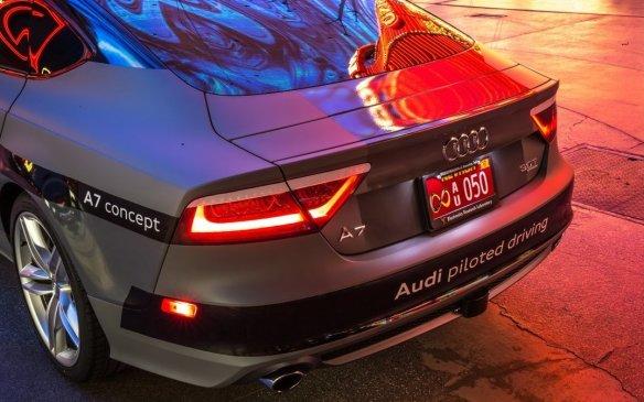 <p>Audi piloted A7 concept</p>