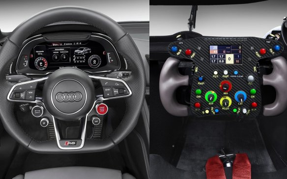 <p>Audi R8 and R18 cockpit comparison</p>