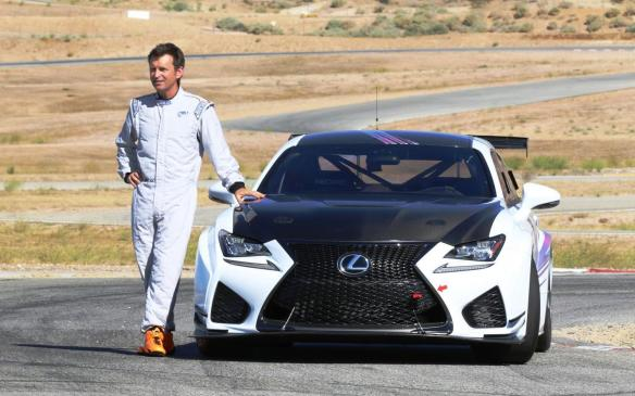 <p>Justin Bell with Lexus RC F GT Concept</p>